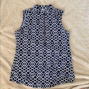 A sleeveless blouse